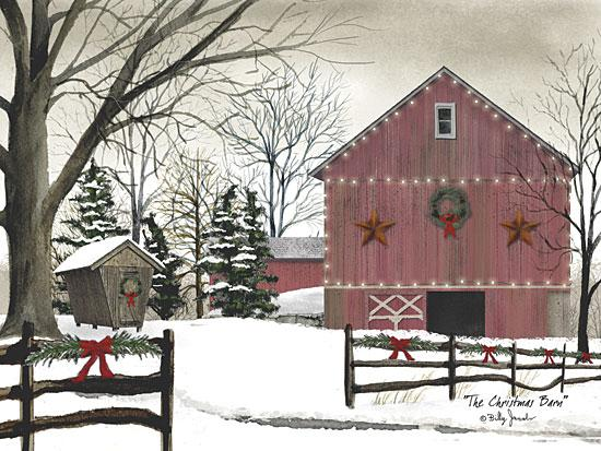 Billy Jacobs BJ147 - Christmas Barn - Barn, Barn Star, Wreaths, Snow, Holiday, Farm from Penny Lane Publishing