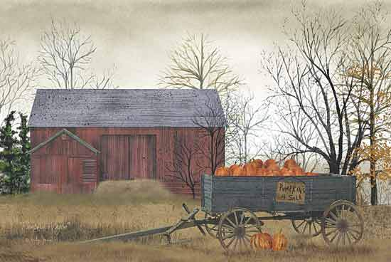 Billy Jacobs BJ153 - Pumpkin Wagon - Pumpkin, Wagon, Barn, Farm from Penny Lane Publishing