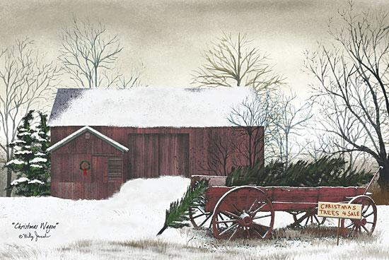 Billy Jacobs BJ154 - Christmas Wagon - Christmas Trees, Wagon, Farm, Snow, Winter from Penny Lane Publishing