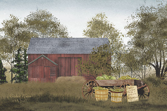 Billy Jacobs BJ156 - Produce Wagon - Corn, Vegetable Stand, Farm, Barn from Penny Lane Publishing
