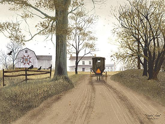Billy Jacobs BJ158A - Headin' Home - Amish, Buggy, Road, Quilt, Barn from Penny Lane Publishing