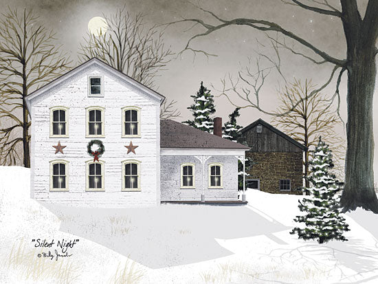 Billy Jacobs BJ159 - Silent Night - House, Snow, Christmas Tree, Barn Stars, Holiday from Penny Lane Publishing
