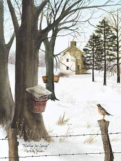 Billy Jacobs BJ166 - Waiting for Spring - Maple Syrup, Bird, Snow, House from Penny Lane Publishing