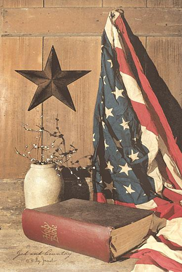 Billy Jacobs BJ175 - God and Country - American Flag, Barn Star, Bible from Penny Lane Publishing