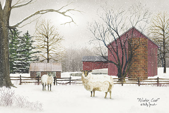 Billy Jacobs BJ185 - Winter Coat - Sheep, Barn, Snow, Farm from Penny Lane Publishing