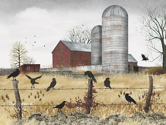 Billy Jacobs BJ186 - Fall Gathering - Birds, Barn, Fields from Penny Lane Publishing