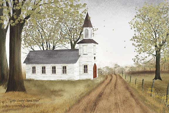 Billy Jacobs BJ198 - Little Country Church House - Church, Path, Trees, Religious, Country from Penny Lane Publishing