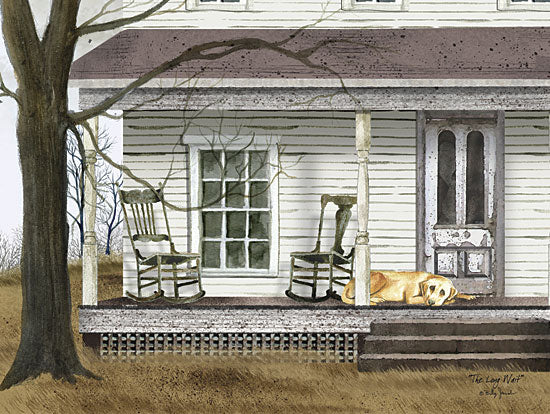 Billy Jacobs BJ200 - The Long Wait - Dog, Rocking Chairs, Front Porch, House from Penny Lane Publishing