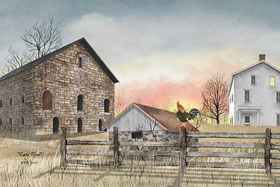 Billy Jacobs BJ213 - Early Riser - Rooster, Farm, Barn, Sun from Penny Lane Publishing