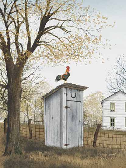 Billy Jacobs BJ215 - Morning Commute - Outhouse, Rooster, Fence from Penny Lane Publishing