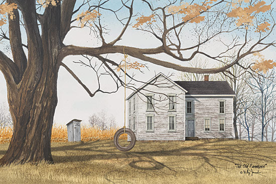 Billy Jacobs BJ216A - The Old Farmhouse - Tire Swing, House, Autumn from Penny Lane Publishing