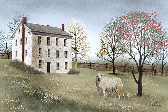 Billy Jacobs BJ231 - Spring at White House Farm - Spring, Sheep, Trees, House, Countryside from Penny Lane Publishing