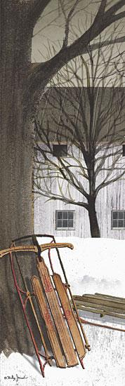 Billy Jacobs BJ401 - Sled - Sled, Snow, House, Trees from Penny Lane Publishing