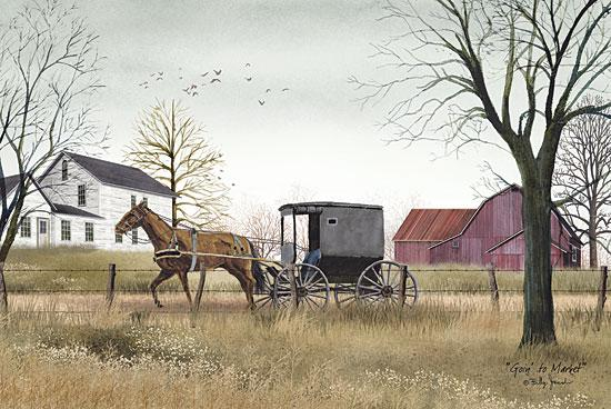 Billy Jacobs BJ405 - Goin to Market - Amish, Buggy, Barn, Farm from Penny Lane Publishing
