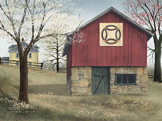 Billy Jacobs BJ441A - Double Wedding Quilt Block - Wedding Quilt, Barn, Farm, Spring, Trees from Penny Lane Publishing