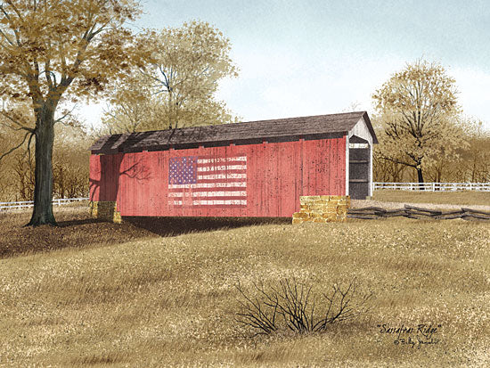 Billy Jacobs BJ446 - Sassafras Ridge  - Bridge, America, Flag, Road from Penny Lane Publishing