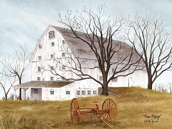 Billy Jacobs BJ447 - Done Raking - Barn, Harvest, Countryside from Penny Lane Publishing