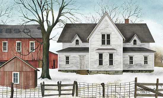 Billy Jacobs BJ452 - 1890 Farmstead - Farm, House, Snow, Fence, Winter from Penny Lane Publishing