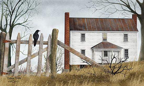 Billy Jacobs BJ456 - Keeping Watch - Crow, Fence, House from Penny Lane Publishing