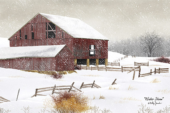 Billy Jacobs BJ457 - Winter Storm - Barn, Winter, Snow, Farm from Penny Lane Publishing