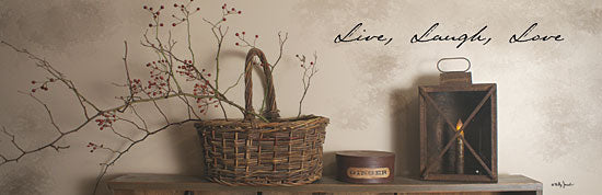 Billy Jacobs BJ800A - Live Laugh Love - Basket, Berries, Inspiring from Penny Lane Publishing