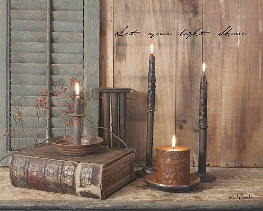 Billy Jacobs BJ805 - Let Your Light Shine - Holy Bible, Candles, Inspiring, Candlestick Maker from Penny Lane Publishing