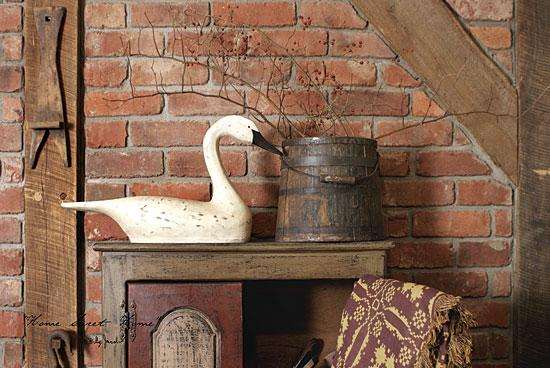 Billy Jacobs BJ818 - Home Sweet Home - Wood Swan, Bucket, Brick Wall, Home from Penny Lane Publishing