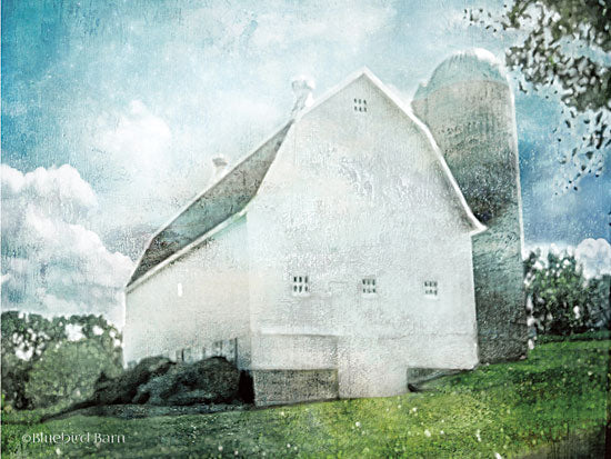 Bluebird Barn BLUE159 - White Barn - 16x12 Barn, Farm, Filter, White Barn from Penny Lane