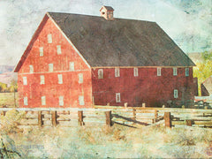 BLUE161 - Big Red Barn  - 16x12