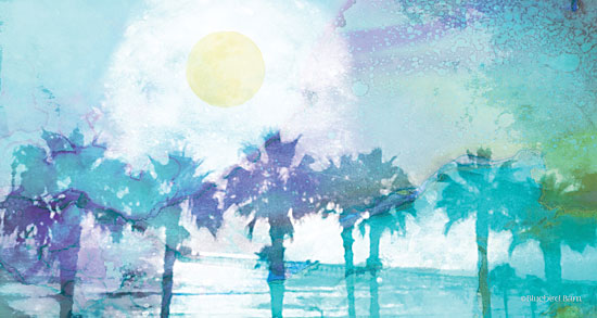 Bluebird Barn BLUE182 - Blue Moon Palm Beach - 18x9 Abstract, Beach, Teal, Blue, Trees, Sun, Filter from Penny Lane