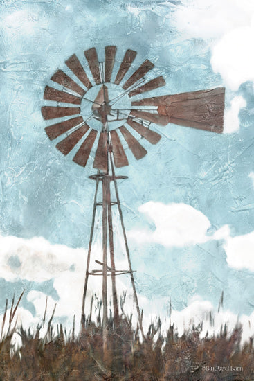 Bluebard Barn BLUE352 - BLUE352 - Windmill      - 12x18 Windmill, Field, Clouds from Penny Lane