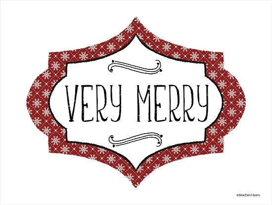 Bluebird Barn BLUE432 - BLUE432 - Very Merry - 16x12 Holidays, Christmas, Merry, Signs, Patterns from Penny Lane