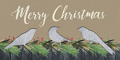 BLUE440 - Merry Christmas Birds - 18x9