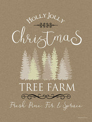 BLUE444 - Holly Jolly Christmas Tree Farm I - 12x16