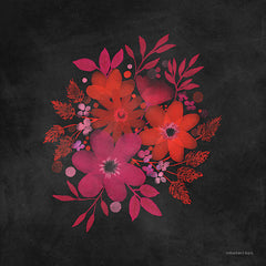 BLUE463 - Red and Magenta Flowers - 12x12