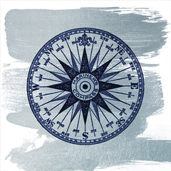 BLUE498 - Brushed Midnight Blue Compass Rose - 12x12