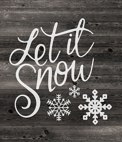 Bluebird Barn BLUE520 - BLUE520 - Let It Snow - 12x16 Holidays, Let It Snow, Winter, Black & White, Chalkboard, Snowflakes from Penny Lane