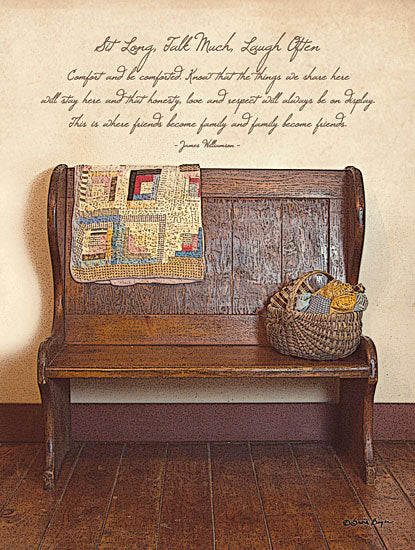 Susie Boyer BOY102A - Friends Become Family - - Bench, Inspirational, Quilt, Basket, Yarn from Penny Lane Publishing