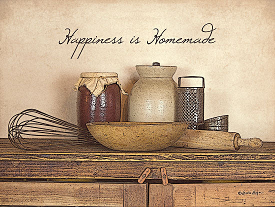 Susie Boyer BOY105 - Happiness is Homemade - Canning Jar, Bowl, Whisk, Antiques, Homemade from Penny Lane Publishing