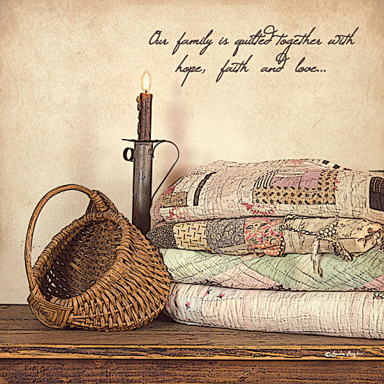 Susie Boyer BOY113A - Quilted Together  - Quilt, Candle, Basket, Inspirational from Penny Lane Publishing