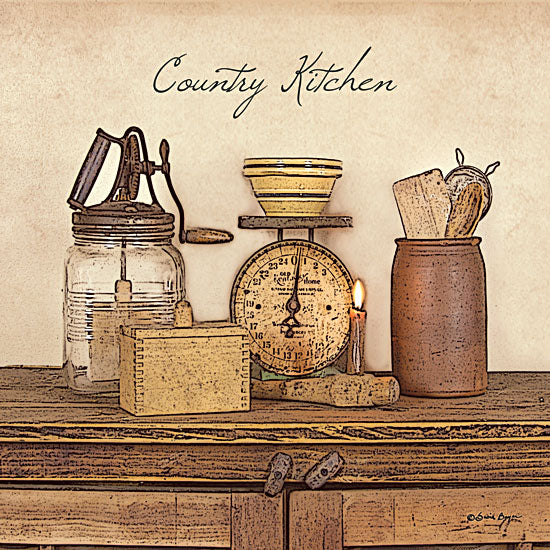 Susie Boyer BOY116 - Country Kitchen - Scale, Boxes, Paddle Mixer, Antiques, Bowl from Penny Lane Publishing