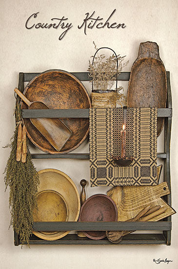 Susie Boyer BOY287 - Country Kitchen - Shelves, Kitchen, Dried Flowers, Candle, Antiques from Penny Lane Publishing
