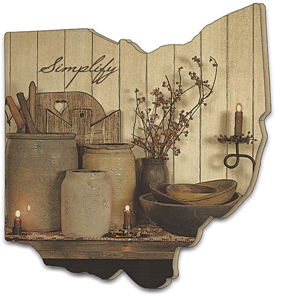 Susie Boyer BOY293OH - Simplify - Simplify, Still-Life, Cutting board, Kitchen, Candles, Wood Slat, Primitive, Country from Penny Lane Publishing