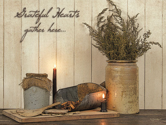 Susie Boyer BOY316 - Grateful Hearts - Crock, Dried Flowers, Candles, Antiques from Penny Lane Publishing
