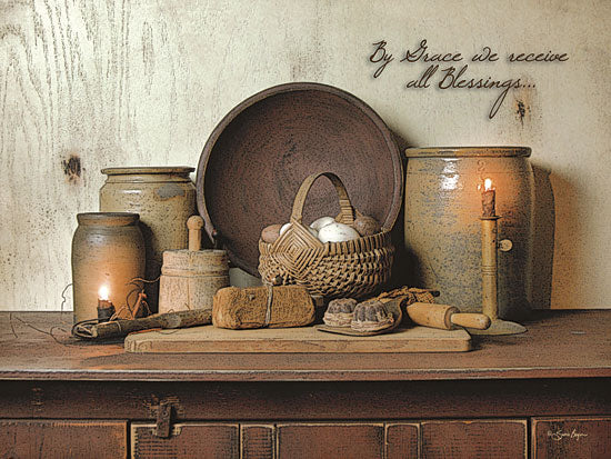 Susie Boyer BOY353 - By Grace - Kitchen, Bread, Still Life, Candles from Penny Lane Publishing