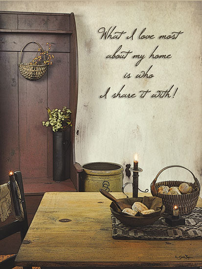Susie Boyer BOY359 - What I Love Most - Still Life, Primitive, Table, Herbs, Candle from Penny Lane Publishing