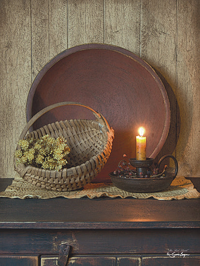 Susie Boyer BOY380 - The Red Bowl - Still Life, Candle, Basket, Bowl from Penny Lane Publishing