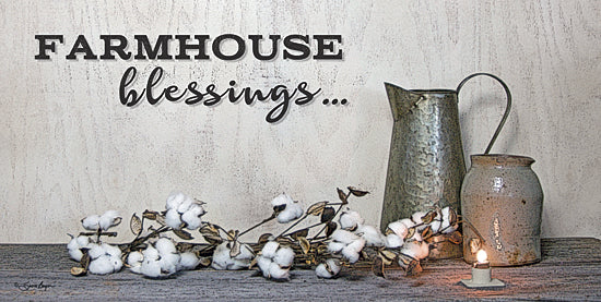 Susie Boyer BOY386A - Farmhouse Blessings - Cotton, Pitchers, Farmhouse, Crock, Candles from Penny Lane Publishing