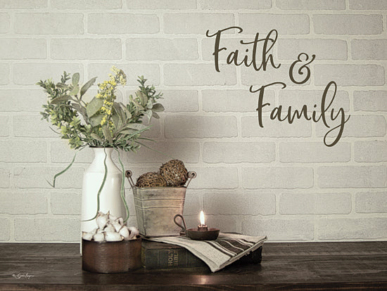 Susie Boyer BOY533 - BOY533 - Faith & Family - 16x12 Signs,, Typography, Still Life, Candle, Flowers, Bible from Penny Lane