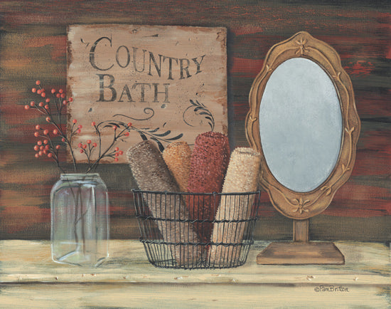 Pam Britton BR207 - Country Bath - Bath, Mirror, Sponges, Jar, Berries from Penny Lane Publishing